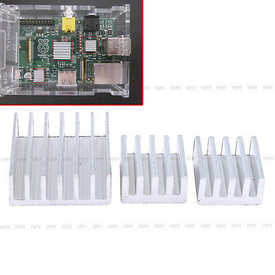 3PCS/Set Aluminum Heatsink Cooler Adhesive Fan Kit Tool For Cooling Raspberry Pi