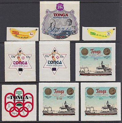 Tonga Small Lot Of Self-Adhesive Stamps (Id:243/d36925)