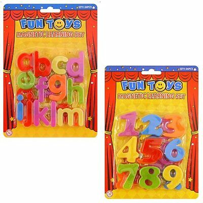 NEW Magnetic Alphabet Letters & Numbers - Plastic Educational Toy (Pack of 2)