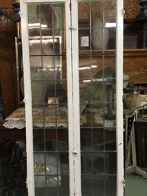 Spanish Revival Leaded Glass French Door Windows With Stainglass Accidentals