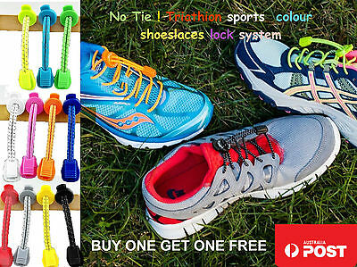 Elastic Shoe Laces For Sports,No tie lace,BUY 1 GET 1 FREE , 2 Pairs for $6.99