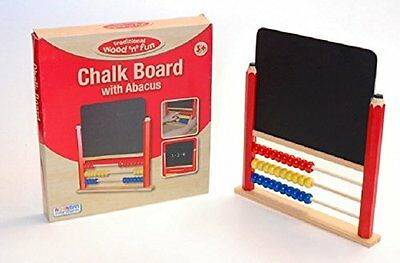 NEW Childrens Wooden Abacus Kids Chalk Board Chalkboard Counting Drawing Toy