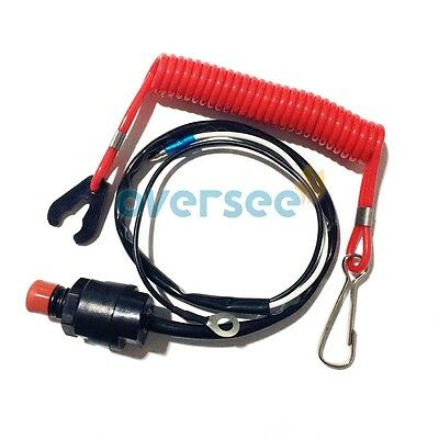 Boat Motor Kill Stop Switch & Safety Lanyard for Yamaha outboard Parts/Honda/
