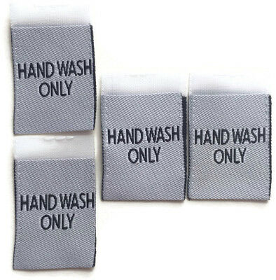 Hand Wash Only Woven Label Clothing Garment Sew-in Woven Labels White Tags Tag