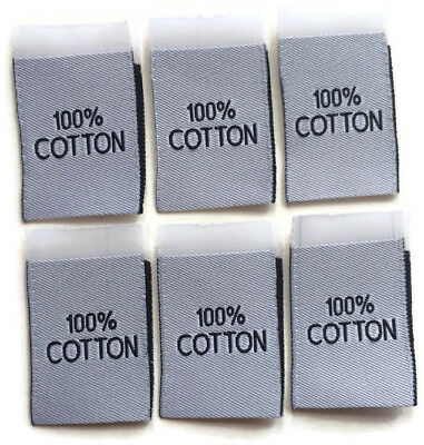 100% Cotton Woven Tag Label Clothing Garment Sew-in Woven Labels White Tags