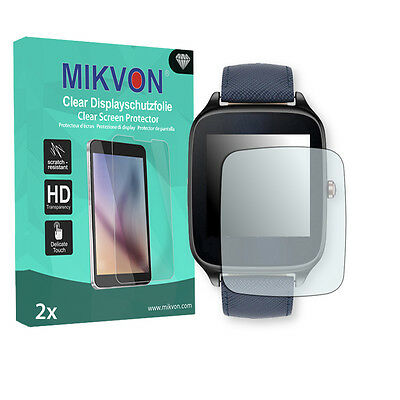 2x Mikvon Clear Screen Protector for Asus ZenWatch 2 (WI501Q - 1,63 Zoll)