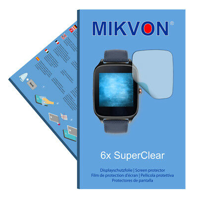 6xMikvon films screen protector SuperCl. for Asus ZenWatch 2 WI501Q - 1,63 Zoll
