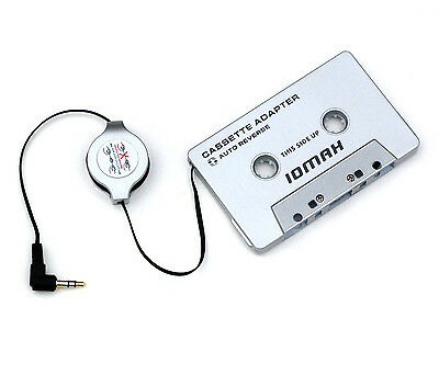 Car Cassette Adapter iPod MP3 Players  Retractable Cable Audio Devices Jack Tape