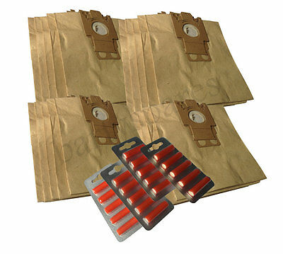20 Vacuum Cleaner Hoover Dust Bags Air Fresheners for Miele FJM paper type