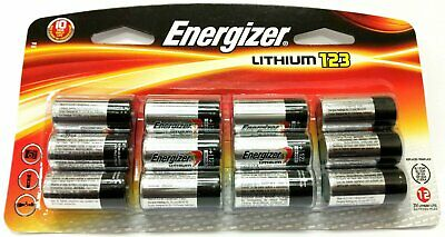 12 NEW Energizer CR123A Lithium 3V Battery for EL123 SF123 DL123 FRESH 12/2028