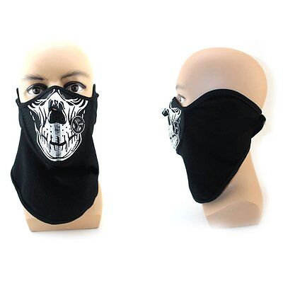 Halloween Bandana Skull Bike Motorcycle Helmet Neck Half Face Mask Ghost Scarf