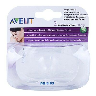 Avent 2x Nipple Protectors Standard - Covers Prevents Sore Nipples Breastfeeding