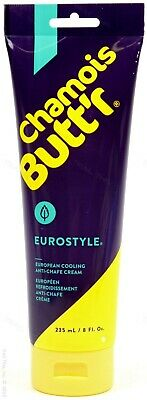 Chamois Butt'r Eurostyle Cooling Cream Butter Road Bike Cycling 8oz (235ml) Tube