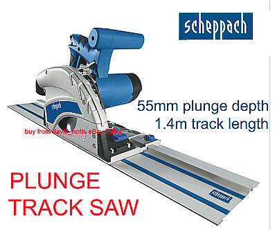 Scheppach PL55 / CS55 Plunge Guide Circular Saw Includes 1.4m of Track BRAND NEW