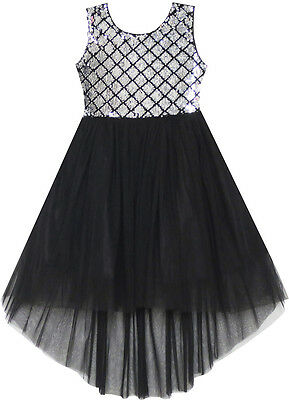 Flower Girl Dress Sequin Mesh Party Wedding Princess Tulle Size 7-14 Pageant