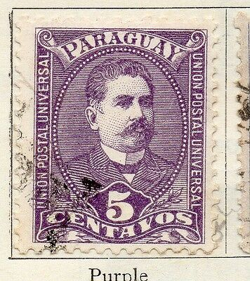 Paraguay 1892 Early Issue Fine Used 5c. 036853