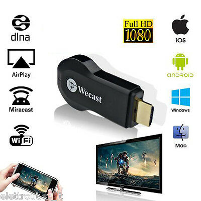 Chiavetta Streaming Dongle Wifi M2 Anycast Miracast Dlna Airplay No Chromecast