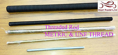UNF THREADS 300mm Long STEEL PLATED FULLY THREADED ROD /BAR /STUDDING /ALLTHREAD