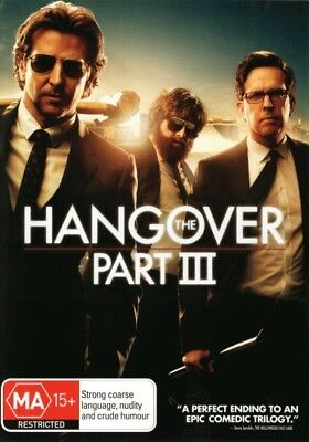 The Hangover Part 3 III DVD R4 Brand New!