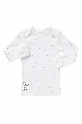 Bonds Baby Kids Girls Boys Newbies Long Sleeve Tear Drop Tee Top White Blue