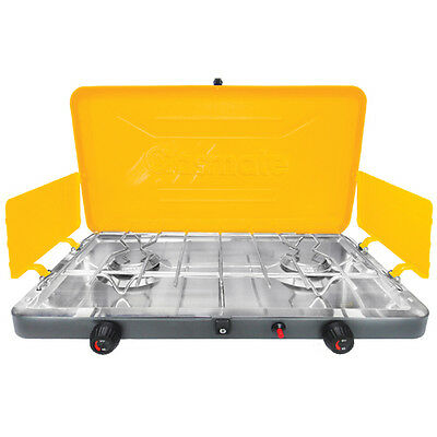 GASMATE 2 BURNER (DELUXE) Gas Camping Camp Portable Stove (1095D) Cooker