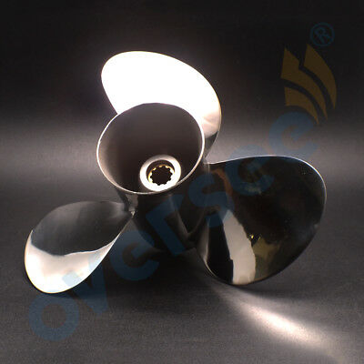 Stainless Steel Outboard Propeller 9-7/8 x 13 for Yamaha 20-30HP 664-45949-02-EL