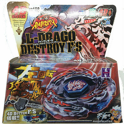 L-Drago Destroy Beyblade 4D Top Metal Fusion Fight Rare Master Launcher Game New