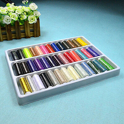 39Pcs Mixed Colors Polyester Sewing Thread Machine Hand 200 Yard /Spool Amazing