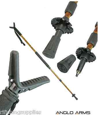 New Adjustable Monopod Stick In Camo Hunting Walking Shooting Air Rifle Stick