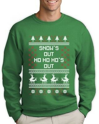 fe3e5f188 Snow's Out Ho's Out Ugly Christmas Sweater Funny Sweatshirt Humping Reindeer