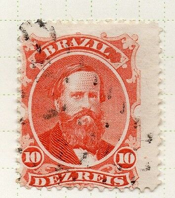 Brazil 1860s Dom Pedro Early Issue Fine Used 10r. 037034