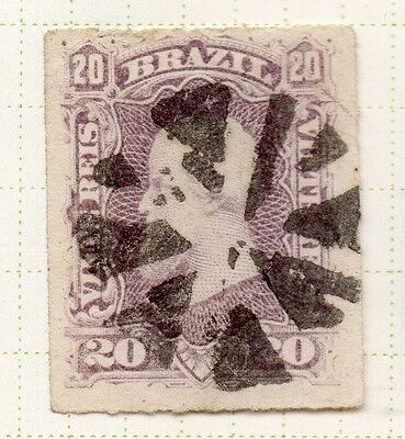 Brazil 1860s Dom Pedro Early Issue Fine Used 20r. 037041