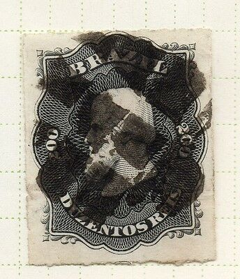 Brazil 1860s Dom Pedro Early Issue Fine Used 200r. 037043