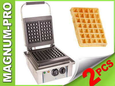 Waffle Maker Baker Grill Machine Commercial Timer Belgian Waffles