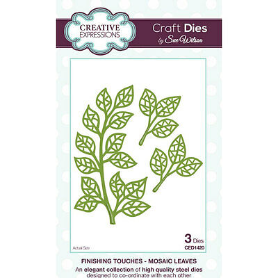 Sue Wilson Craft Dies - Finishing Touches Collection - Mosaic Leaves (CED1420)