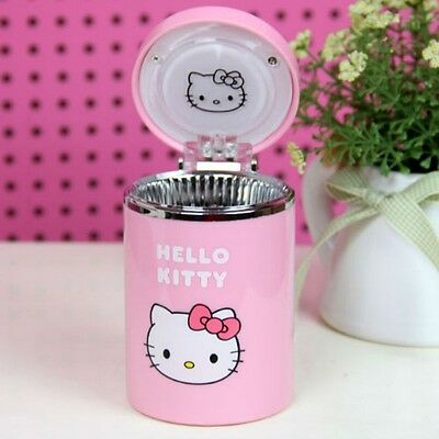 CAR USE Decoration Easy Convenient Use PINK Color KITTY Face Design ASHTRAY