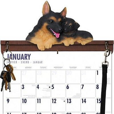 German Shepherd Calendar Caddy, Key Holder & Leash Hook~New Without Box!