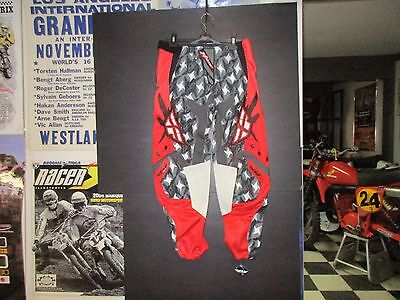 New Fly Racing Kinetic Motocross/bmx Pants Red/gry, Size 32