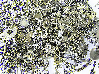 Jewelry Findings Mixed Patterned Metal Antique Brass Charms
