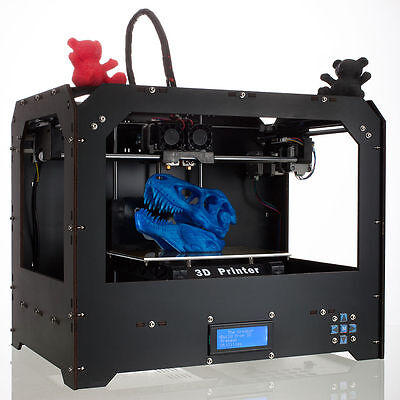CTC Black 3D Printer - Dual Extruder - MK8 - Factory Direct Lowest Price- ABS