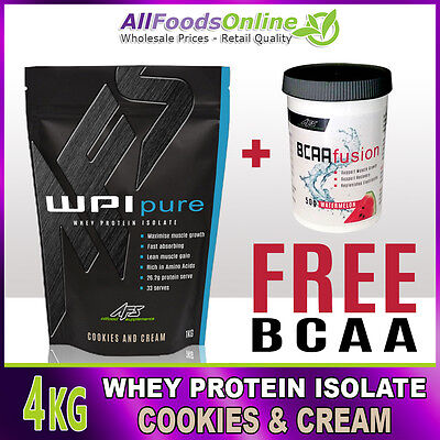 PREMIUM WPI - WHEY PROTEIN ISOLATE - WPI PURE - COOKIES & CREAM - 4kg