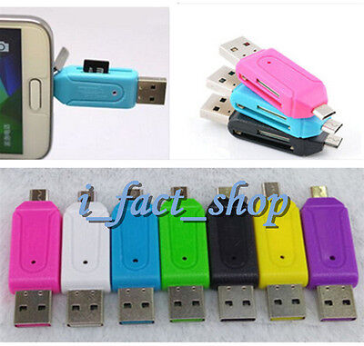 Newest OTG SD Micro USB 2.0 T-Flash Memory Card Reader Adapter For PC Samsung IF