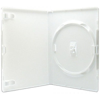 10 X Genuine Amaray Single DVD White Case 14mm Spine - Pack of 10