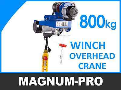 Industrial Winch Hoist Trolley 1760 Lb (800 Kg) Electric Overhead Crane Hoisting