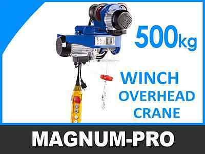 Industrial Winch Hoist Trolley 1100 Lb (500 Kg) Electric Overhead Crane Hoisting