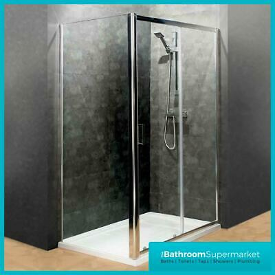 Sliding Shower Enclosure Door Side Panel Stone Tray Walk In Cubicle