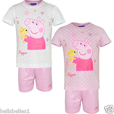 Fully Licensed Official Peppa Pig Short Pj/pyjamas Set/outfit 2 -8 Years