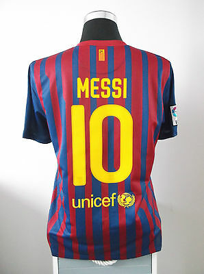 Lionel MESSI #10 Barcelona Home Football Shirt Jersey 2011/12 (L)