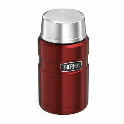Thermos Stainless King Food Flask Red 0.71 Litre Insulated Outdoor Travel New