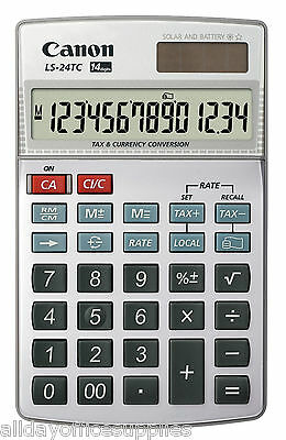 Canon LS-24TC 14 Digit, Currency Conversion, Large display, Solar and Battery.